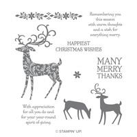 Dashing Deer Cling-Mount Stamp Set