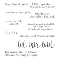 Es Tut Mir Leid Cling-Mount Stamp Set German (German)