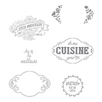 Charmantes Étiquettes Cling-Mount Stamp Set (French)