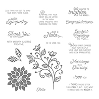 Flourishing Phrases Cling-Mount Stamp Set