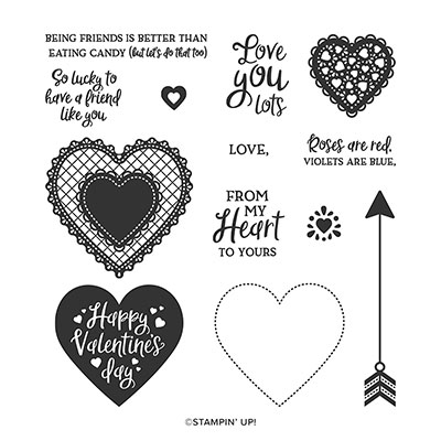 HEARTFELT PHOTOPOLYMER STAMP SET (ENGLISH)