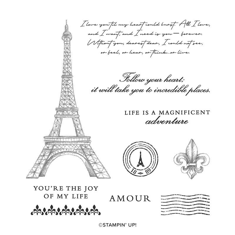#151466 Parisian Beauty stamp set