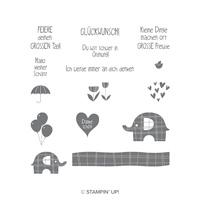 Elefantastisch Cling-Mount Stamp Set (German)