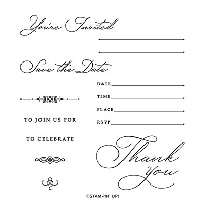 SO INVITING PHOTOPOLYMER STAMP SET (ENGLISH)