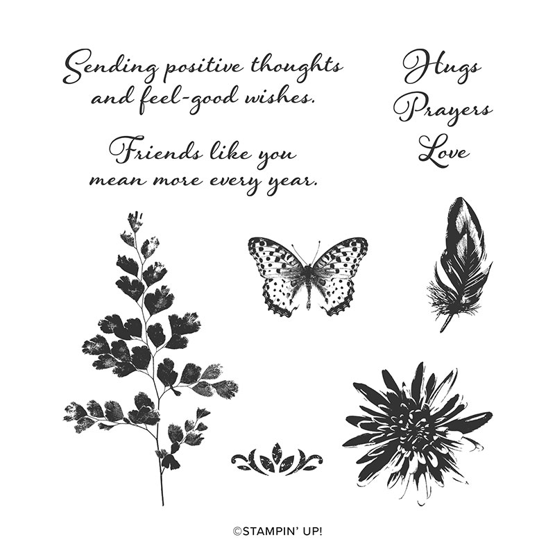 POSITIVE THOUGHTS CLING STAMP SET