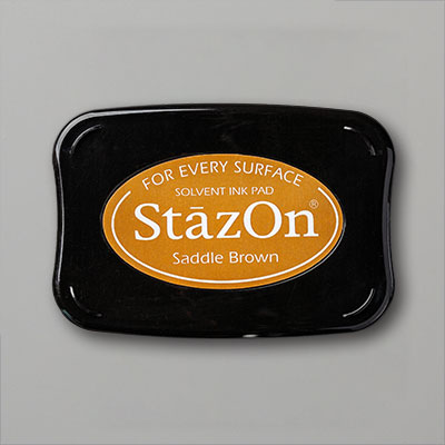 SADDLE BROWN STAZON INK PAD