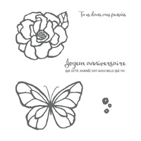 Journée Splendide Cling-Mount Stamp Set (French)