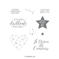 Petite Étoile Cling-Mount Stamp Set (French)