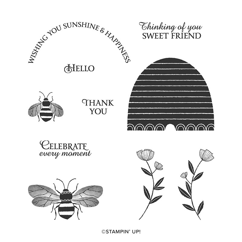 HONEY BEE CLING STAMP SET