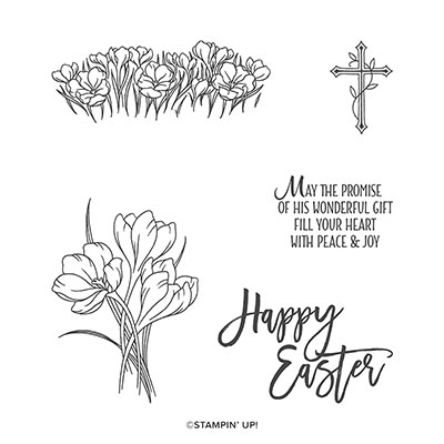 EASTER PROMISE CLING STAMP SET (ENGLISH)
