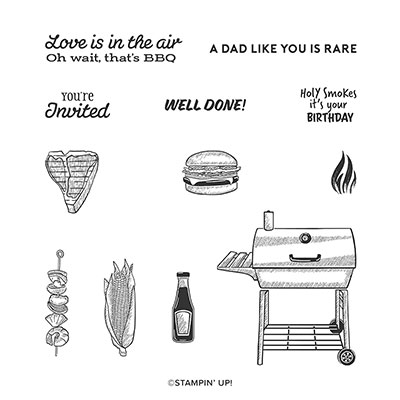 OUTDOOR BARBECUE CLING STAMP SET