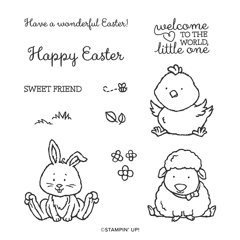 WELCOME EASTER CLING STAMP SET (ENGLISH)