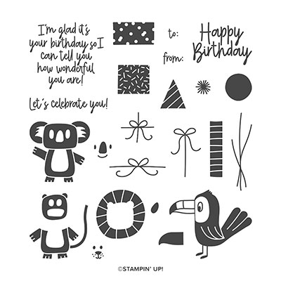 BONANZA BUDDIES PHOTOPOLYMER STAMP SET