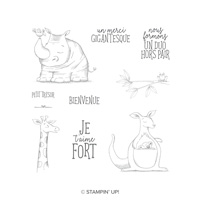 Duos D'animaux Cling-Mount Stamp Set (French)