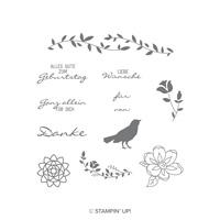 Gartenzauber Cling-Mount Stamp Set (German)