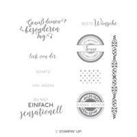 Bestickte Grüße Cling-Mount Stamp Set (German) Bestickte Grüsse