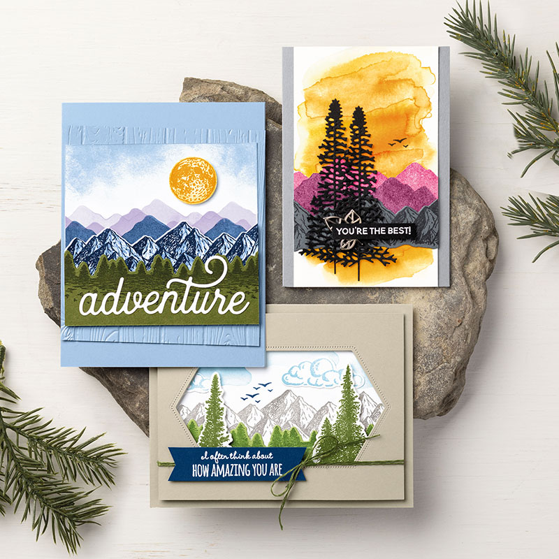 MOUNTAIN AIR PHOTOPOLYMER STAMP SET