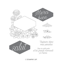 Fleurs Décorées Cling-Mount Stamp Set (French)