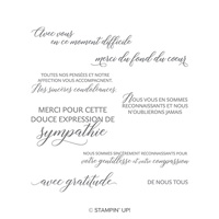 Genitllesse Et Compassion Cling-Mount Stamp Set (French)