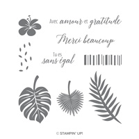 Chic Tropical Cling-Mount Stamp Set (French)