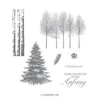 Winterwald Cling-Mount Stamp Set (German)