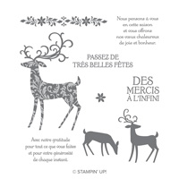 Renne Fringant Cling-Mount Stamp Set (French)