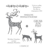 Weihnachtshirsch Cling-Mount Stamp Set (German)