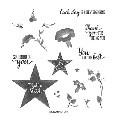 MORNING STAR PHOTOPOLYMER STAMP SET (ENGLISH)