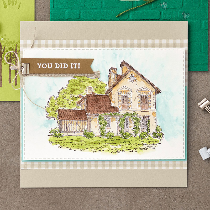 French Countryside Cling Stamp Set