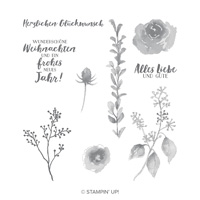 Eisblüten Cling-Mount Stamp Set (German)