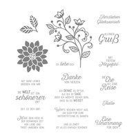Blühende Worte Cling-Mount Stamp Set (German)