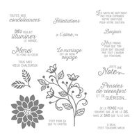 Éclosion De Pensées Cling-Mount Stamp Set (French)