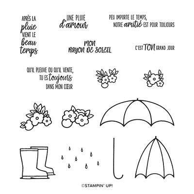 SOUS MON PARAPLUIE PHOTOPOLYMER STAMP SET (FRENCH)