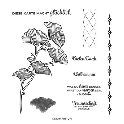 GRAZIL GEFLOCHTEN PHOTOPOLYMER STAMP SET (GERMAN)