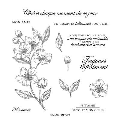 FLEURS POUR TOUJOURS CLING STAMP SET (FRENCH)