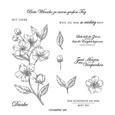 EWIGE BLÜTEN  CLING STAMP SET (GERMAN)