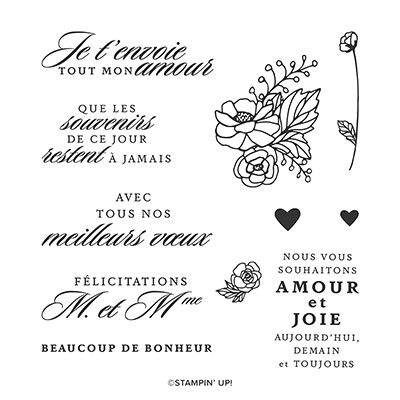 POUR LA VIE CLING STAMP SET (FRENCH)