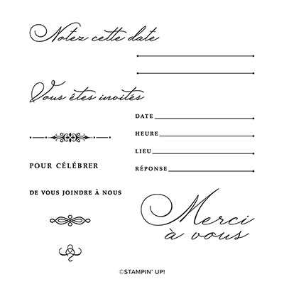 INVITÉS PAR ICI PHOTOPOLYMER STAMP SET (FRENCH)