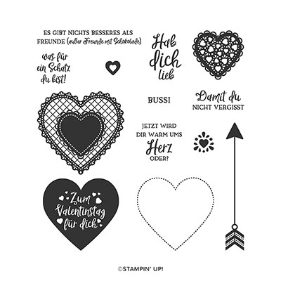 HERZLICH PHOTOPOLYMER STAMP SET (GERMAN)