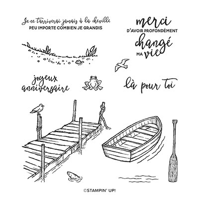 SUR LE QUAI CLING STAMP SET (FRENCH)