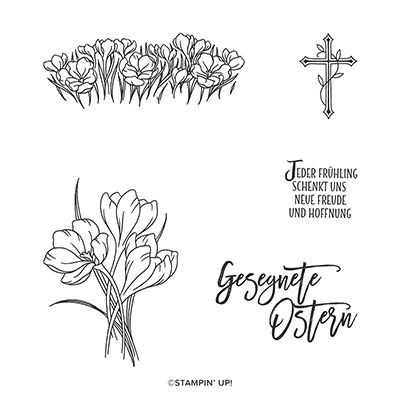 OSTERSEGEN CLING STAMP SET (GERMAN)