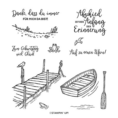 AM STEG CLING STAMP SET (GERMAN)