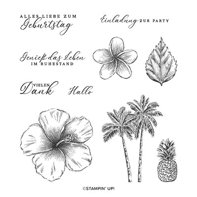 TROPISCHE TRÄUME CLING STAMP SET (GERMAN)