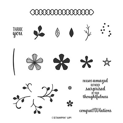 THOUGHTFUL BLOOMS PHOTOPOLYMER STAMP SET (ENGLISH)