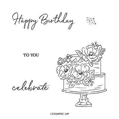 HAPPY BIRTHDAY TO YOU CLING STAMP SET