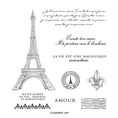 BEAUTÉ PARISIENNE CLING STAMP SET (FRENCH)