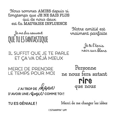BONNE HUMEUR CONTAGIEUSE CLING STAMP SET (FRENCH)