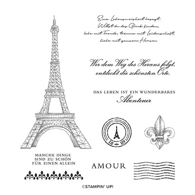 VERLIEBT IN PARIS CLING STAMP SET (GERMAN)
