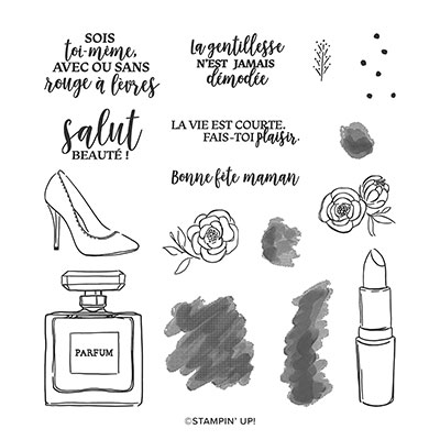 JUSTE LA CLASSE  PHOTOPOLYMER STAMP SET (FRENCH)