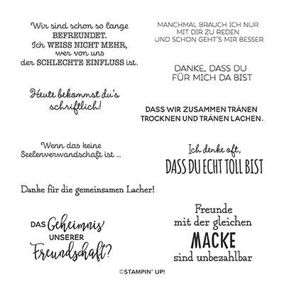 GEHEIMNIS DER FREUNDSCHAFT CLING STAMP SET (GERMAN)